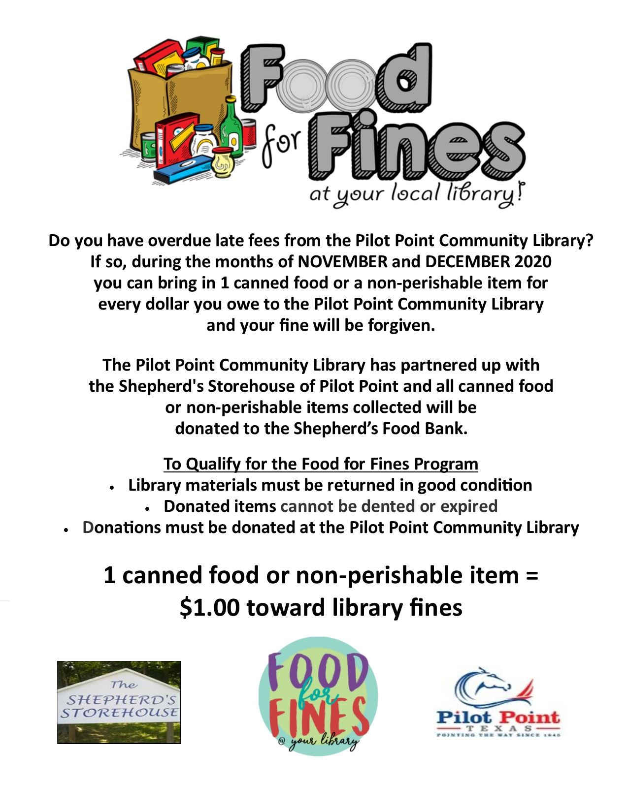 Food for Fines 2020