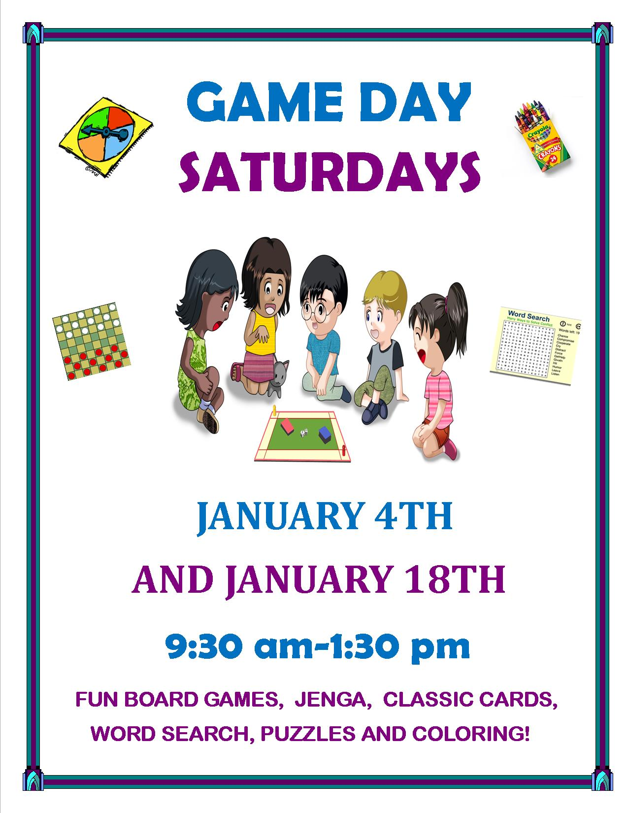January 2020 Game Day Saturdays